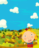 Cartoon happy and colorful scene with traditional character - historical look Royalty Free Stock Images