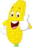 Cartoon happy corn giving thumb up Royalty Free Stock Photos
