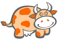 Cartoon happy cow Stock Image