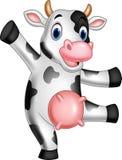 Cartoon happy cow. Illustration of Cartoon happy cow vector illustration