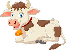Cartoon happy cow Royalty Free Stock Photos