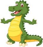 Cartoon happy crocodile isolated on white background Stock Photos
