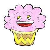 Cartoon happy cupcake Royalty Free Stock Photo