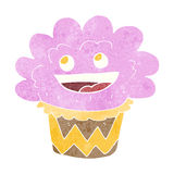 Cartoon happy cupcake Royalty Free Stock Photography