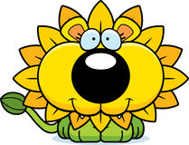 Cartoon Happy Dandelion Lion Stock Photo