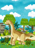 Cartoon happy dinosaur Stock Photo