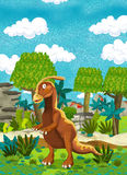 Cartoon happy dinosaur Stock Image
