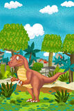Cartoon happy dinosaur Royalty Free Stock Image
