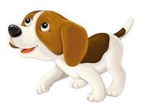 Cartoon happy dog Stock Image