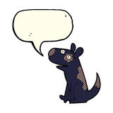 Cartoon happy dog with speech bubble Stock Image