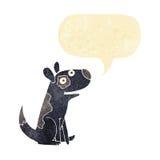 Cartoon happy dog with speech bubble Stock Photography