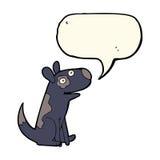 Cartoon happy dog with speech bubble Royalty Free Stock Photo