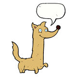 Cartoon happy dog with speech bubble Royalty Free Stock Photography