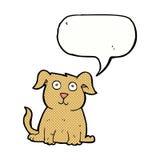 Cartoon happy dog with speech bubble Royalty Free Stock Photos