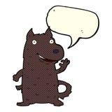 Cartoon happy dog with speech bubble Royalty Free Stock Image