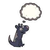 Cartoon happy dog with thought bubble Stock Photo