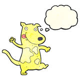 Cartoon happy dog with thought bubble Stock Photos