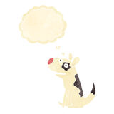 Cartoon happy dog with thought bubble Stock Images