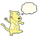 Cartoon happy dog with thought bubble Royalty Free Stock Photography