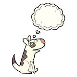 Cartoon happy dog with thought bubble Royalty Free Stock Images