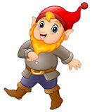Cartoon happy dwarf. Illustration of Cartoon happy dwarf Royalty Free Stock Image