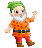 Cartoon happy dwarf Royalty Free Stock Photography