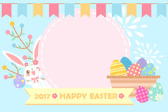 Cartoon happy easter Royalty Free Stock Photo