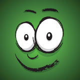 Cartoon happy face Royalty Free Stock Images
