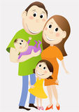 Cartoon happy family Royalty Free Stock Photo