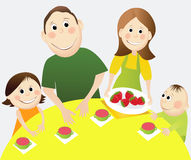 Cartoon happy family Royalty Free Stock Image