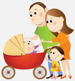 Cartoon happy family Stock Photo