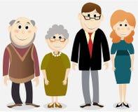 Cartoon happy family Stock Photo