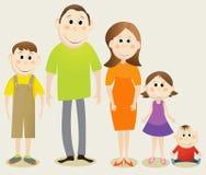 Cartoon happy family Royalty Free Stock Photo