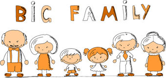 Cartoon happy family,vector Stock Photo