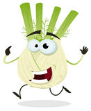Cartoon Happy Fennel Character Stock Photo
