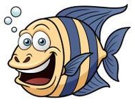 Cartoon Happy fish. Vector illustration of Cartoon Happy fish Stock Image