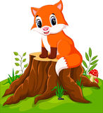 Cartoon happy fox Stock Images
