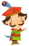 Cartoon happy and funny boy - prince - isolated Royalty Free Stock Photos