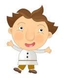 Cartoon happy and funny child - boy -  Royalty Free Stock Photography