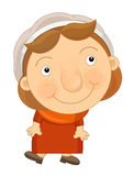 Cartoon happy and funny child - girl -  Royalty Free Stock Image