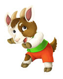 Cartoon happy and funny goat - isolated background - illustration for children Royalty Free Stock Photo