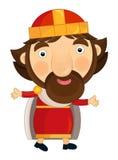 Cartoon happy and funny king - isolated Royalty Free Stock Photo