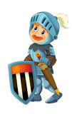 Cartoon happy and funny knight - isolated Royalty Free Stock Photos