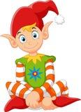 Cartoon happy gnome Stock Image