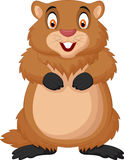 Cartoon happy groundhog Stock Photos