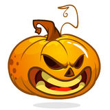 Cartoon  happy Halloween carved pumpkin isolated on white background. Vector illustration Stock Image