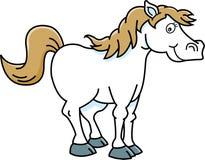 Cartoon happy horse. Royalty Free Stock Photography