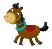 Cartoon happy horse - isolated Stock Photography