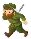 Cartoon happy hunter Royalty Free Stock Photo