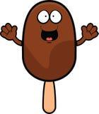 Cartoon Happy Ice Cream Stick Stock Image